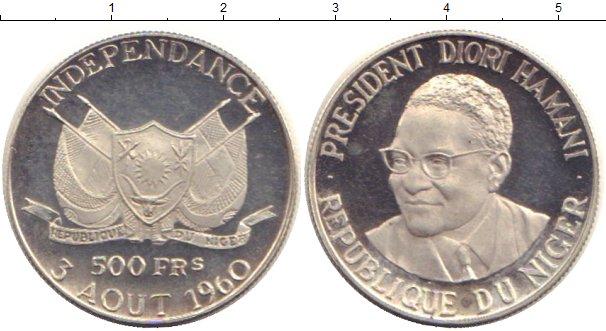 Картинка Монеты Нигер 500 франков Серебро 1960