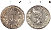 Изображение Монеты Финляндия 100 марок 1960 Серебро UNC S