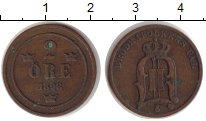 Изображение Монеты Швеция 2 эре 1898 Бронза XF- Оскар II
