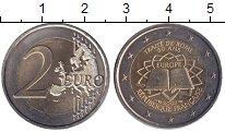 Изображение Монеты Франция 2 евро 2007 Биметалл UNC 50 лет Римского дого