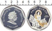 Изображение Монеты Острова Кука 5 долларов 2008 Серебро Proof Святой Мартин (позол