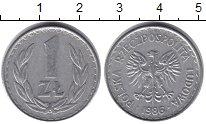 Изображение Дешевые монеты Польша 1 злотый 1986 Алюминий XF