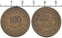 Изображение Дешевые монеты Тунис 100 миллим 1983 Медь XF