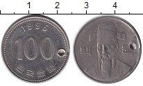 Изображение Барахолка Южная Корея 100 вон 1995 Медно-никель VF