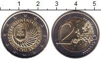 Изображение Мелочь Словакия 2 евро 2016 Биметалл UNC-