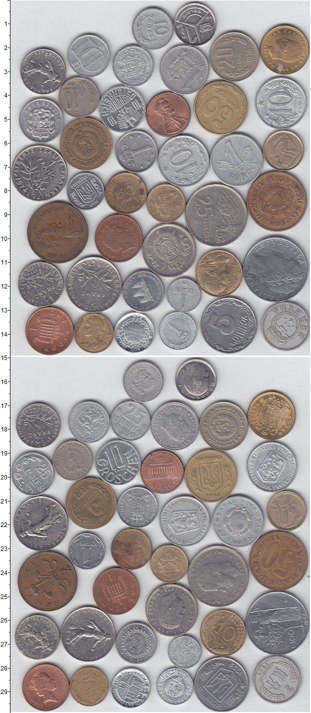 Изображение Лоты монет для начинающих нумизматов Монеты стран мира Лот №01226 0