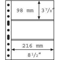 Изображение Аксессуары для монет Vario / Grande Прозрачный лист на 3 ячейки (формат GRANDE) 0