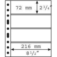 Изображение Аксессуары для монет Vario / Grande Прозрачный лист на 4 ячейки (формат GRANDE) 0