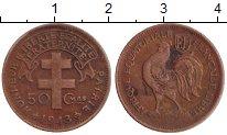 Изображение Мелочь Франция Французская Экваториальная Африка 50 сантим 1943 Медь VF+