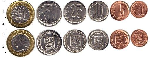 Изображение Наборы монет Венесуэла Венесуэла 2009-2012 0  UNC- В наборе 6 монет ном