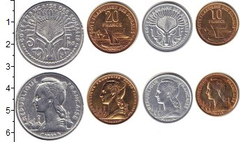 Изображение Наборы монет Сомали Сомали 1959 - 1962 0  XF В наборе 4 монеты но