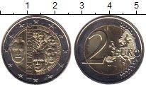 Изображение Мелочь Люксембург 2 евро 2015 Биметалл UNC-