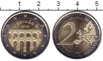 Изображение Мелочь Испания 2 евро 2016 Биметалл UNC-