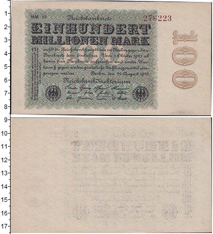 Картинка Банкноты Веймарская республика 100.000.000 марок  1923