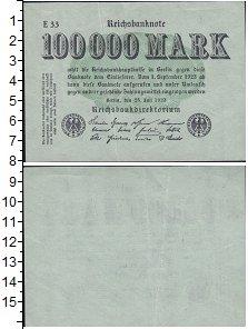 Изображение Банкноты Веймарская республика 100.000 марок 1923  XF+ выпуск 25 июля 1923