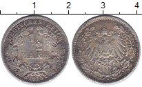 Изображение Монеты Германия 1/2 марки 1915 Серебро VF