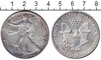 Изображение Монеты США 1 доллар 1991 Серебро XF Шагающая Свобода.