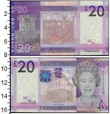 Изображение Боны Остров Джерси 20 фунтов 0  UNC-
