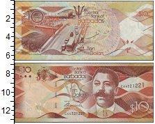 Изображение Банкноты Барбадос 10 долларов 2013  UNC