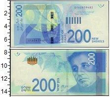 Изображение Банкноты Израиль 200 шекелей 0  UNC-