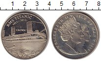 Изображение Монеты Остров Мэн 1 крона 2012 Медно-никель UNC- Елизавета II. 100 ле