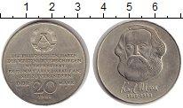 Изображение Монеты ГДР 20 марок 1983 Медно-никель XF А.  100 - летие со д