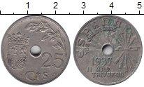 Изображение Монеты Испания 25 сентимо 1937 Медно-никель XF