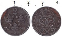 Изображение Монеты Швеция 2 эре 1948 Железо XF