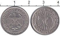 Изображение Монеты Веймарская республика 50 пфеннигов 1928 Медно-никель XF А (Монетный  двор Бе