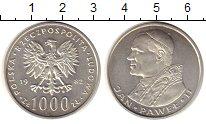 Изображение Монеты Польша 1000 злотых 1982 Серебро XF
