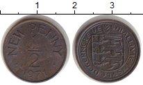Изображение Монеты Гернси 1/2 пенни 1971 Медь UNC-