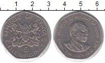 Изображение Монеты Кения 5 шиллингов 1985 Медно-никель XF Президент Даниэль Мо