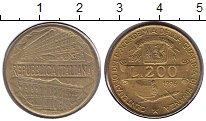 Изображение Монеты Италия 200 лир 1996 Медь XF