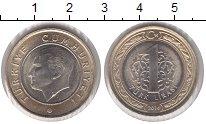 Изображение Монеты Турция 1 лира 2014 Биметалл XF