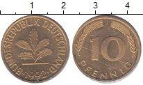 Изображение Монеты ФРГ 10 пфеннигов 1992  XF
