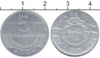 Изображение Монеты Коста-Рика 5 колон 2008 Алюминий XF
