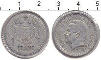 Изображение Монеты Монако 1 франк 1945 Алюминий XF Люис II