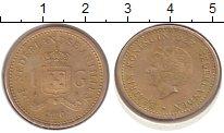 Изображение Монеты Антильские острова 1 гульден 2010 Медь XF