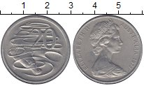Изображение Монеты Австралия 20 центов 1977 Медно-никель XF