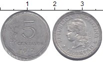 Изображение Монеты Аргентина 5 сентаво 1972 Алюминий VF