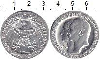 Изображение Монеты Пруссия 3 марки 1910 Серебро XF 100 - летие Берлинск