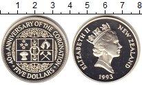 Изображение Монеты Новая Зеландия 5 долларов 1993 Серебро Proof
