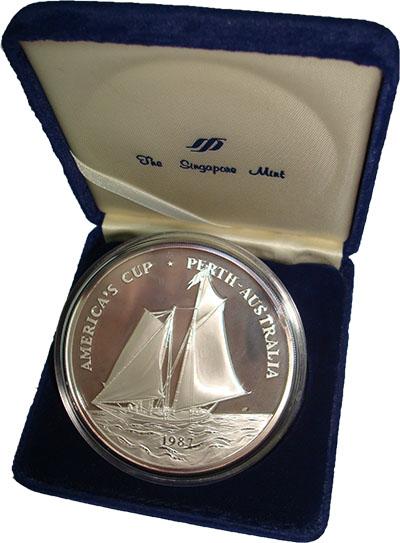 Изображение Подарочные монеты Самоа Парусный спорт 1987 Серебро Proof Монета номиналом 25