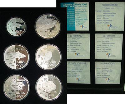 Изображение Подарочные наборы Аруба Фауна Арубы 0 Серебро Proof Набор посвящен живот