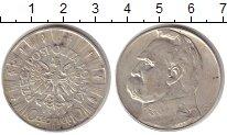 Изображение Монеты Польша 10 злотых 1935 Серебро XF Пилсуцкий