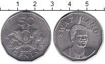 Изображение Монеты Свазиленд 50 центов 2005 Медно-никель UNC- Герб