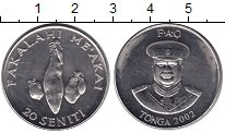 Изображение Монеты Тонга 20 сенити 2002 Медно-никель XF