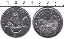 Изображение Монеты Эритрея 1 доллар 1994 Медно-никель XF