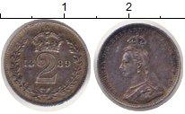 Изображение Монеты Великобритания 2 пенса 1889 Серебро Prooflike