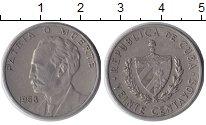 Изображение Монеты Куба 20 сентаво 1968 Медно-никель XF Хосе Марти.
